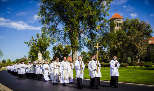 Saint John Vianney Theological Seminary Marian Procession